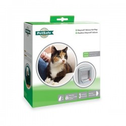 Staywell 340 4 Way Locking Cat Flap - Gray