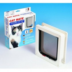 Cat Mate 234W Lockable Cat Flap / Door with Door Liner - White