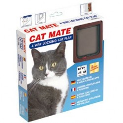Cat Mate 309B 4 Way Locking Cat Flap - Brown