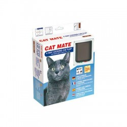 Cat Mate 235W 4 Way Locking Cat Flap with Door Liner - White