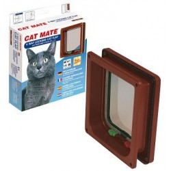 Cat Mate 235B 4 Way Locking Cat Flap with Door Liner - Brown